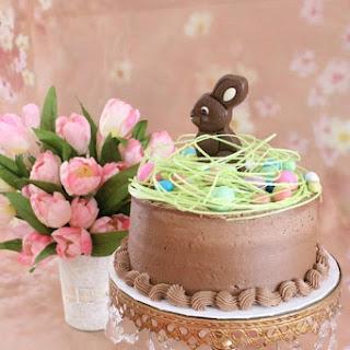 Yellow Cake Covered in Milk Chocolate Buttercream.