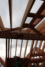 Photo: Node framing on the ceiling