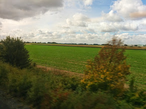 Photo: Countryside whizzes by the Eurostar