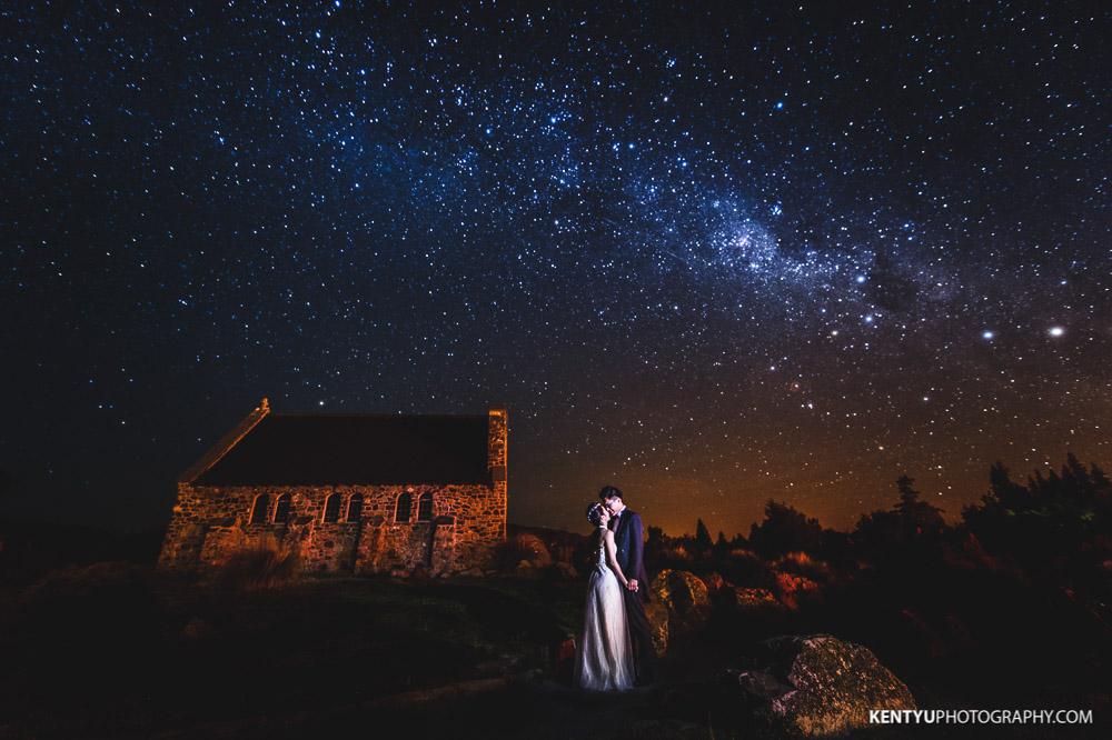 New Zealand Tekapo Starry Night Sky Pre-Wedding   Wellington Wedding ...
