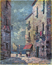 Photo: vintage print of a Ruglei painting...looks like Spain but I'm not sure.