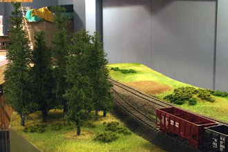 Photo: Initial scenery at Marshall's Siding. Hoppers are RTR from S Helper Service.