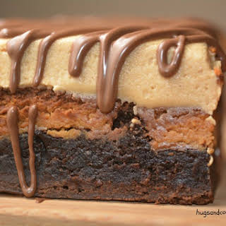 Reese's Stuffed Brownie and Peanut Butter Frosting.