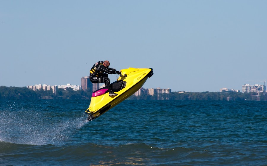 Jumping waves by Brad Chapman - Sports & Fitness Watersports ( water, flying, jumping, jet ski, waves, airborne, fun,  )