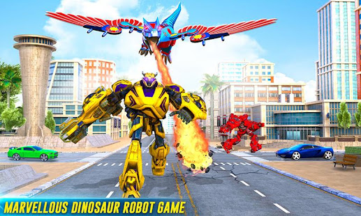 Flying Dino Transform Robot City Attack Robot Game - náhled