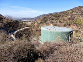 Photo: View west from Garcia Trail toward the Rosedale water supply