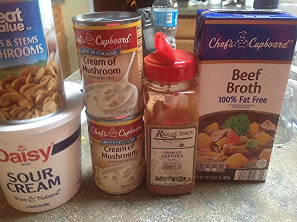 These are the main ingredients used in the recipe aside from the Roast Beef.