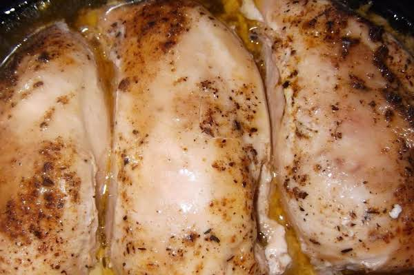 Simple Crock Pot Roasted Chicken Breasts And Gravy