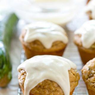 Glazed Zucchini Bread Banana Muffins
