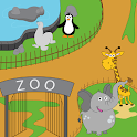 Trip to the zoo for kids icon