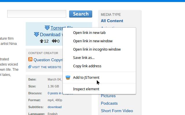 JSTorrent Helper extension chrome extension