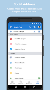 Simple Social Pro MOD APK [Pro Features Unlocked] 3