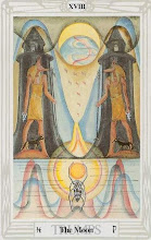 Photo: .XVIII. The Moon - A Lua Thoth Tarot Crowley