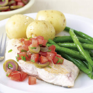 Fish with Tomato and Olive Salsa