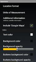 Screenshot of GPS Widget Pro