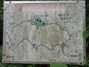 弁当山遊歩道案内図