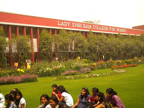Photo: Open lawn discussion on Reclaiming of Public Spaces — at Lady Sri Ram college for women in Delhi, India