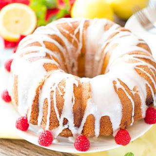 Best Lemon Raspberry Bundt Cake.