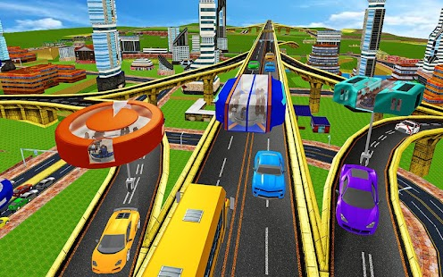 Futuristic Gyroscopic Bus City Driving - náhled