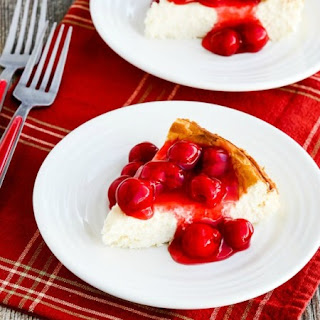 Low-Carb No-Bake Cherry Cheesecake.