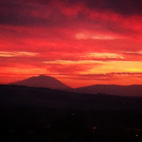 Mt. Adams sunset by Kathlene Moore - Landscapes Sunsets & Sunrises (  )