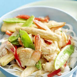 Thai Green Curry Shrimp.