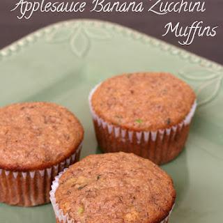 Applesauce Banana Zucchini Muffins {Gluten-free, Dairy-free}.
