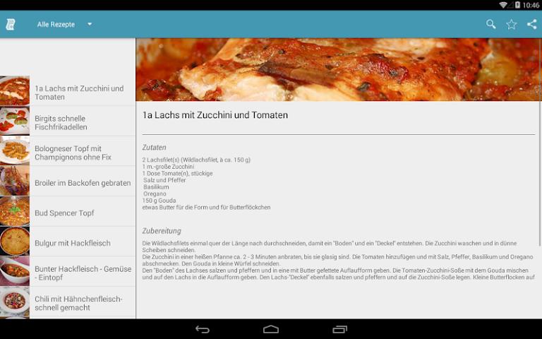 android Einfache & Schnelle Rezepte Screenshot 7
