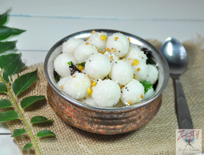 Ammini kozhukattai/ Seasoned steamed rice flour balls