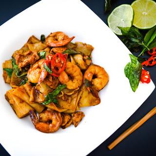 Thai Drunken Noodles Pad Kee Mao.