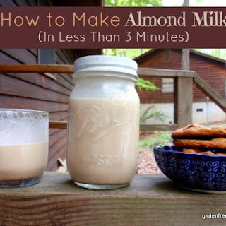 How to Make Homemade Almond Milk In Less Than 3 Minutes!