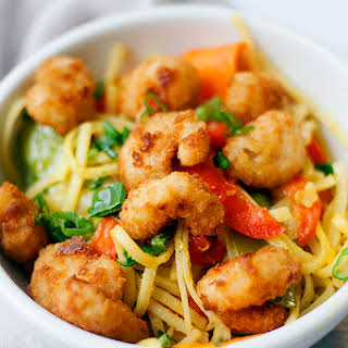 Singapore Noodles With Shrimp.