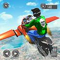 Flying Motorbike Stunts Riding Simulator icon
