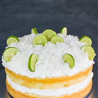 Coconut Key Lime Rum Cake.