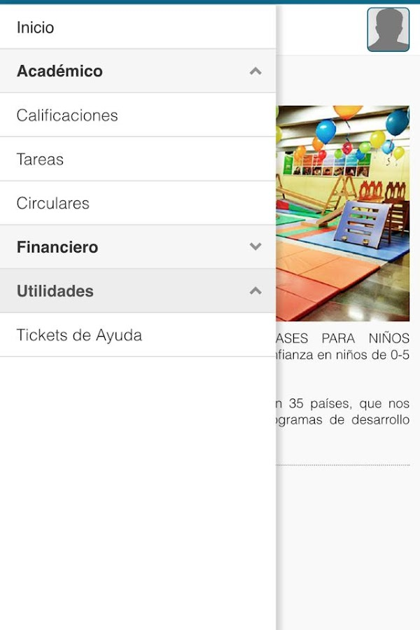Kindergym: captura de pantalla