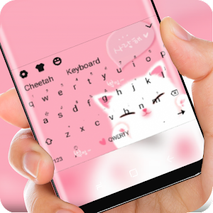 Kawaii Pink Kitty Wallpaper Cute Girl Keyboard