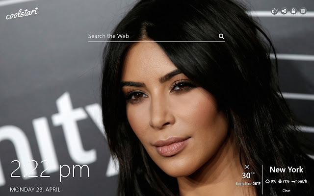 Kim Kardashian HD Wallpaper Hollywood Theme