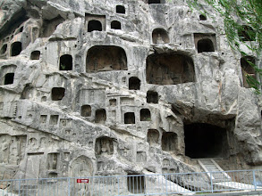 Photo: Buddist caves, Longmen in Luoyang