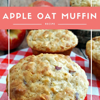 Healthy Apple Oat Muffins.