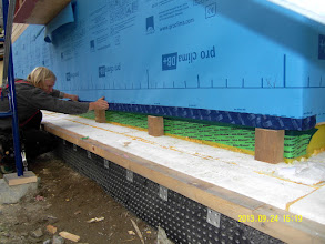 Photo: ... 4 x 6 blocking allows TJI's to be fastened to 6 x 8 sill band joists ...