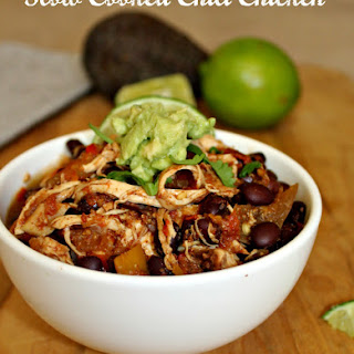 Slow Cooked Chili Chicken.