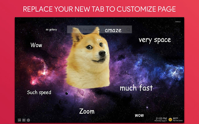 Doge Wallpaper HD Custom New Tab
