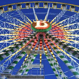 Illustration by J & M - City,  Street & Park  Amusement Parks ( image, view, illustration, park, amusement )