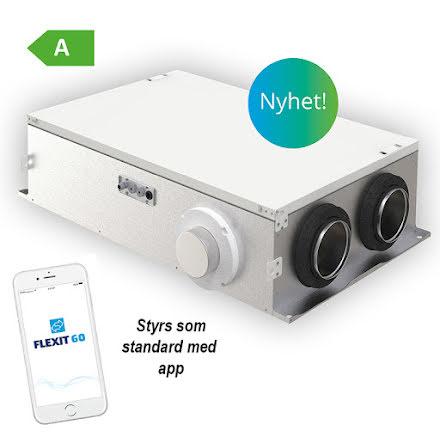 Nyhet! Flexit Nordic CL2 EC FTX- vänster anslutning för lägenheter och mindre bostäder 70 kvm / boyta