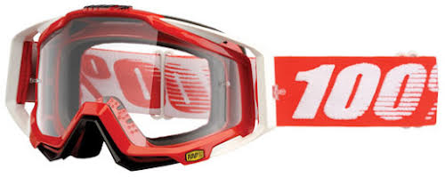 100% RaceCraft Goggle, Fire Red (Clear Lens)