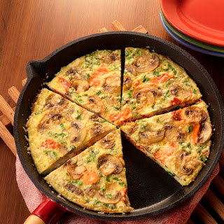 Mushroom and Smoked Salmon Fritatta.
