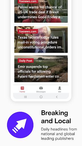 Opera News: Breaking Local & US Headlines 7.6.2254.150878 Screenshots 1