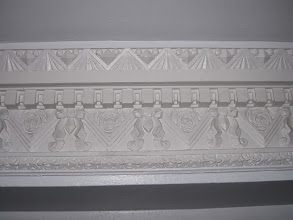 Photo: Plaster frieze detail.