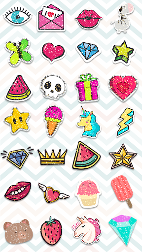 Glitter Stickers 1.1 screenshots 2