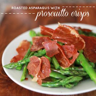 Asparagus with Prosciutto Crisps.